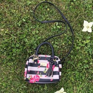 Betsey Johnson Mini Purse Stiped/Floral Print